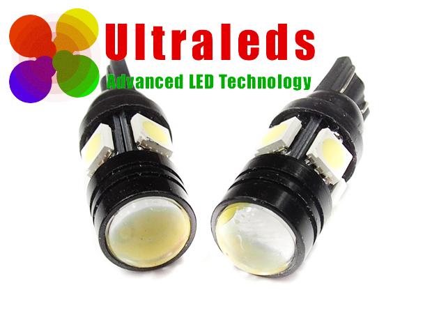 Żarówka LED T10 W5W 2 x 1,5 Wat High Power + 4 x SMD 5050 - Soczewka !!!